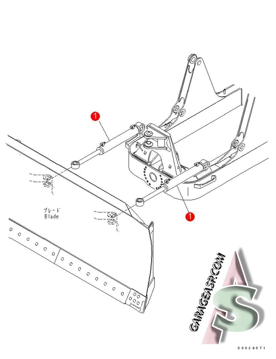 Komatsu Hydraulic Cylinders Heavy Equipment Parts Wiring Schematics Wa250 6 602 D61ex 15e0 Cylindre Tilt 707 00 0c821