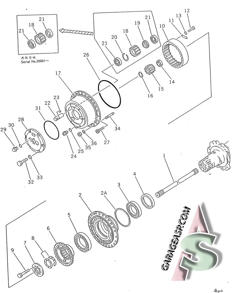 komatsu final drives travel motors heavy equipment parts Komatsu Parts Diagram 440 komatsu wa500 1l final drive av 425 22 12001
